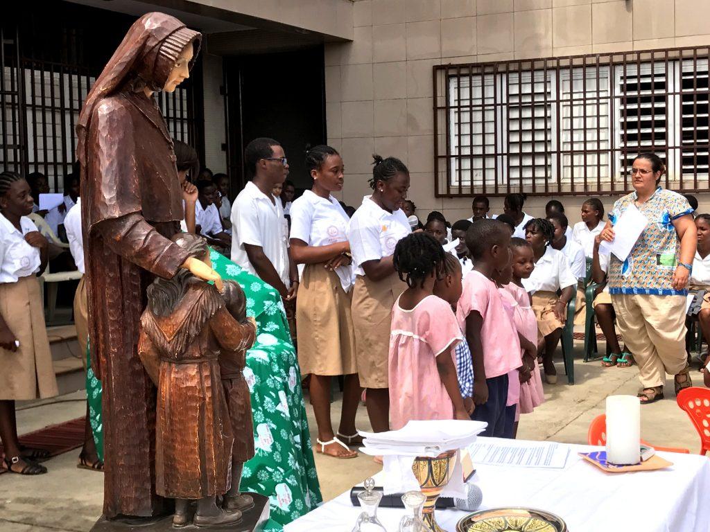 Malabo, Guinea Ecuatorial, celebrando el Año Bicentenario.