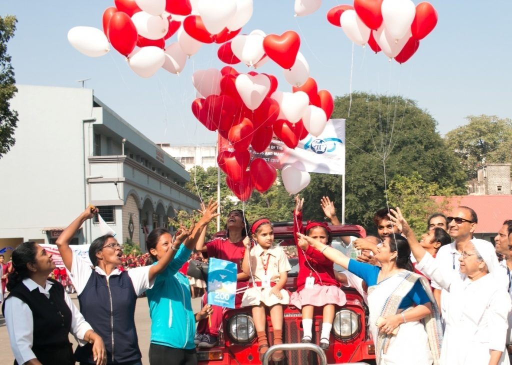 'WALKING WITH JESUS AND MARY' – THE WALKATHON    St. Annes High School, Pune, INDIA